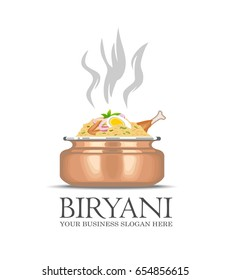 An illustration of famous indian dish Biryani icon