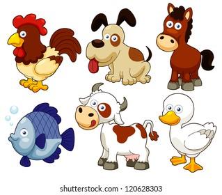 Cartoon Farm Animals Images, Stock Photos & Vectors ...