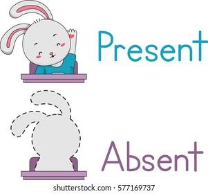46. present - absent