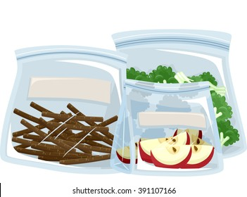 Illustration Featuring Different Ways to Store Food