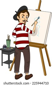 Illustration Featuring a French Painter