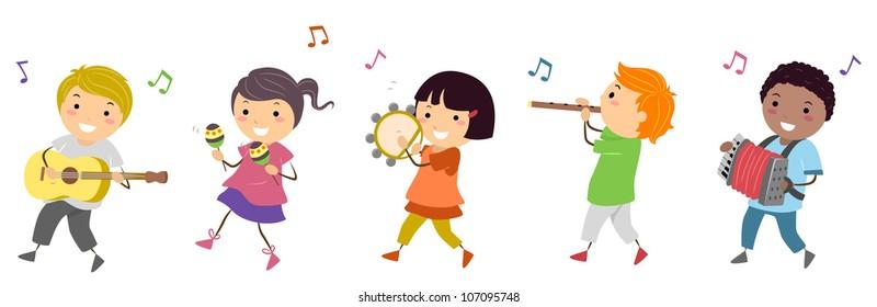 Cartoon Children Music Images, Stock Photos & Vectors | Shutterstock