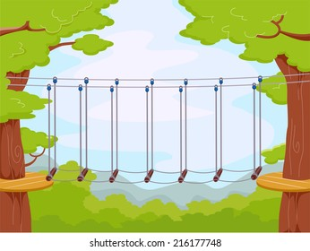 Illustration Featuring an Obstacle Course