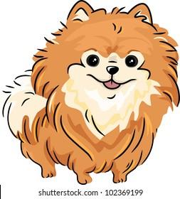 Illustration Featuring a Pomeranian