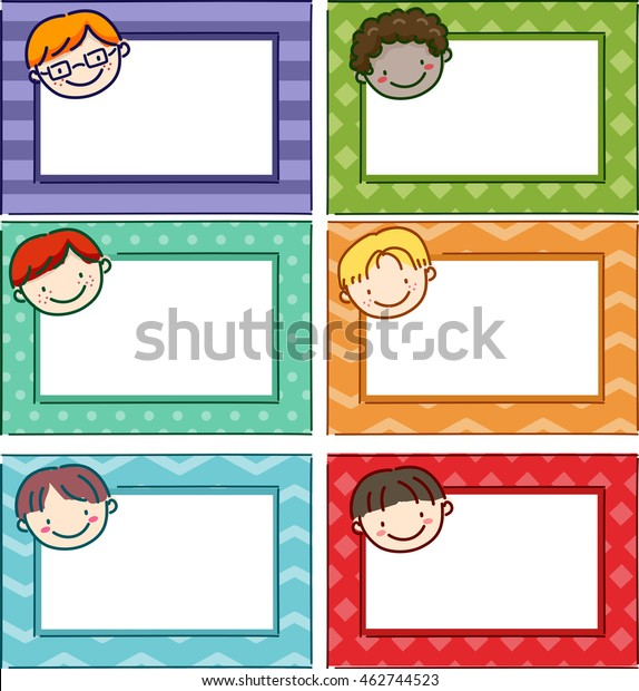 photograph regarding Name Tags Printable named Case in point Providing Printable Popularity Tags Boys Inventory Vector