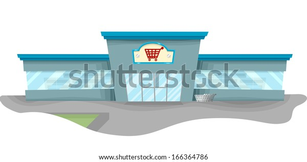 Illustration Featuring a Spacious Grocery Store