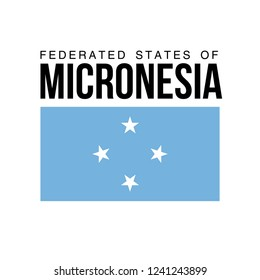 illustration festive banner with flag of The Federated states of Micronesia. Card with flag and coat of arms Happy Federated states of Micronesia Day 2018. picture banner november 3 of foundation day