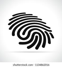 Illustration of finger print on white background