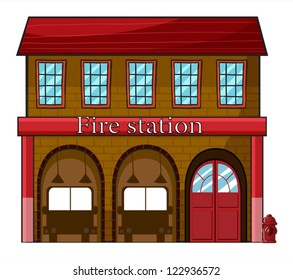 fire station images stock photos vectors shutterstock rh shutterstock com Fire Truck Clip Art Hospital Clip Art