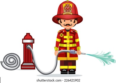 illustration of a firefighter