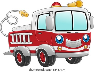 Illustration of a Firetruck Ready for Action