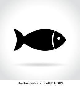 Illustration of fish icon on white background