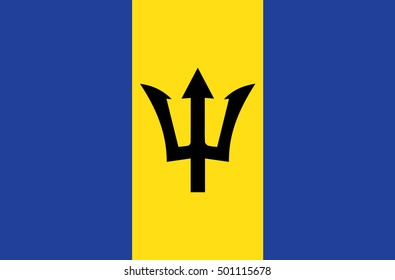 An Illustration of the flag of Barbados