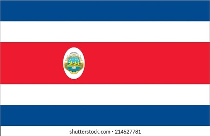 An Illustration of the flag of Costa Rica