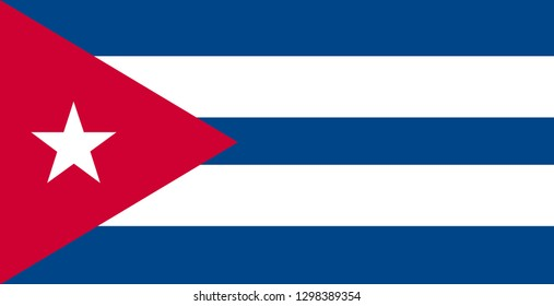 Illustration of the flag of Cuba isolated on a white background.