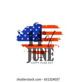 Illustration Of Flag Day Background.