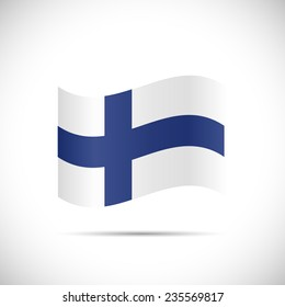 Illustration of the flag of Finland isolated on a white background.