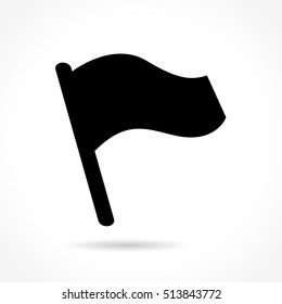 Illustration of flag icon on white background