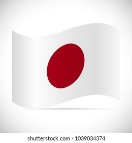 Illustration of the flag from Japan.