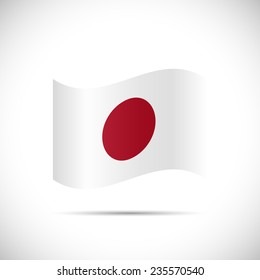 Illustration of the flag of Japan isolated on a white background.