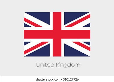 An Illustration of the flag, with name, of the country of United Kingdom