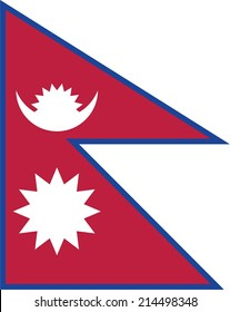 An Illustration of the flag of Nepal