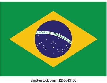 illustration of flag vector,brazil flag