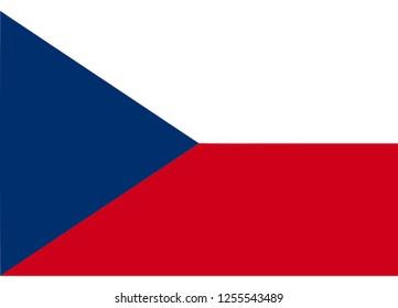 illustration of flag vector,czech republic flag