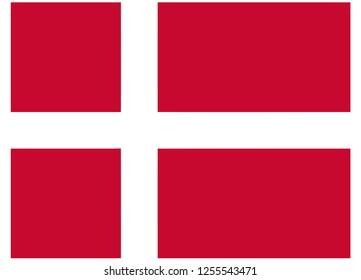 illustration of flag vector,flag of denmark