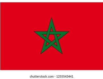 illustration of flag vector,Flag of Morocco