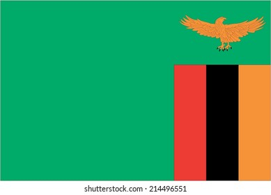 An Illustration of the flag of Zambia