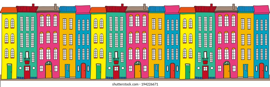 Illustration Of Flashy Streets.