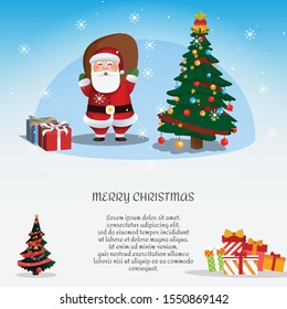 illustration flat design concept for holiday, merry chirstmas, celebration, winter and much more