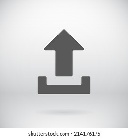Illustration of Flat Download Upload Icon Vector Load Symbol Button Background
