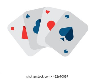 Illustration of Flat icon. Icon of deck of cards. A graphic element on the subject casino. Icon or sign isolated on white background. Illustration of deck of cards in flat style.
