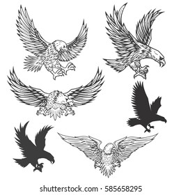 Eagle Vector Flying Images, Stock Photos & Vectors