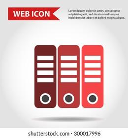 Illustration of folder, document web icons, vector.