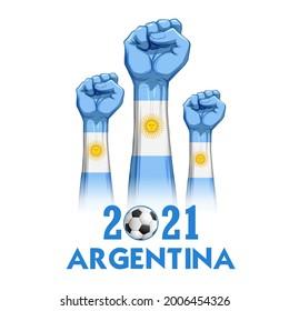 illustration of Football Championship of soccer sports Argentina background