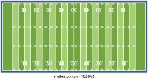 Illustration of a football field
