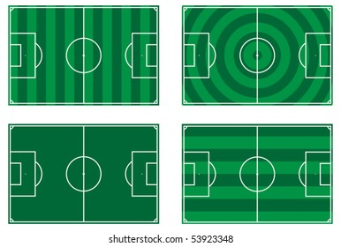 illustration of a football pitch - vector - eps 10