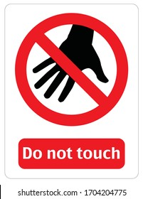 Illustration of forbidden to touch, don't put your hand, eps 10