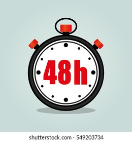 Illustration of forty eight hours stopwatch isolated icon