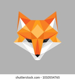 Illustration of fox face in geometric style