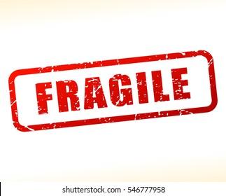Illustration of fragile text