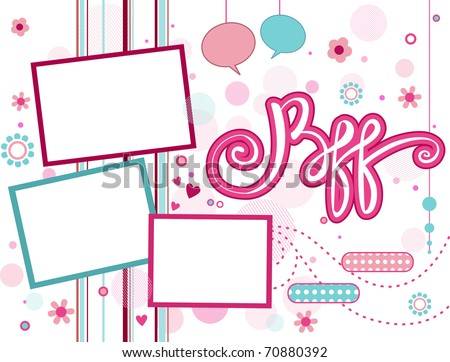 Illustration Frame Featuring Acronym BFF Stock Vector (Royalty Free ...