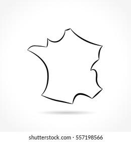 Illustration of france icon on white background