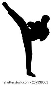 illustration of french kickboxing