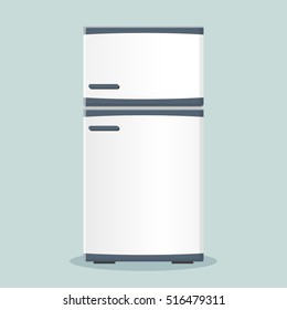 Illustration of fridge icon flat design concept