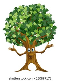 Cartoon Tree Character Images Stock Photos Vectors Shutterstock Voiced characters in fish hooks, adventure time, gravity falls. https www shutterstock com image vector illustration friendly cartoon tree character mascot 130899176