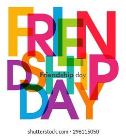 Illustration of friendship day.